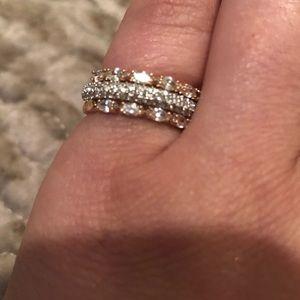 3 Swarovski rings